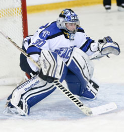 Women's hockey goalie Rachel Myette