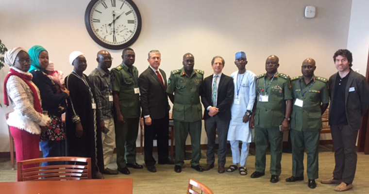 Senior Nigerian military leaders attend McCormack Graduate School workshop on conflict resolution.