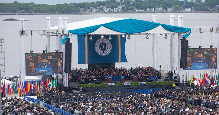 Graduate Commencement Speakers Emphasize Importance of Lifelong Learning as Ceremony Returns to Campus Center Lawn