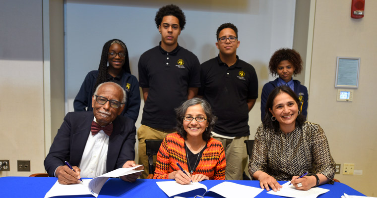UMass Boston's Honors College Signs MOU to Create Roxbury Prep Pipeline