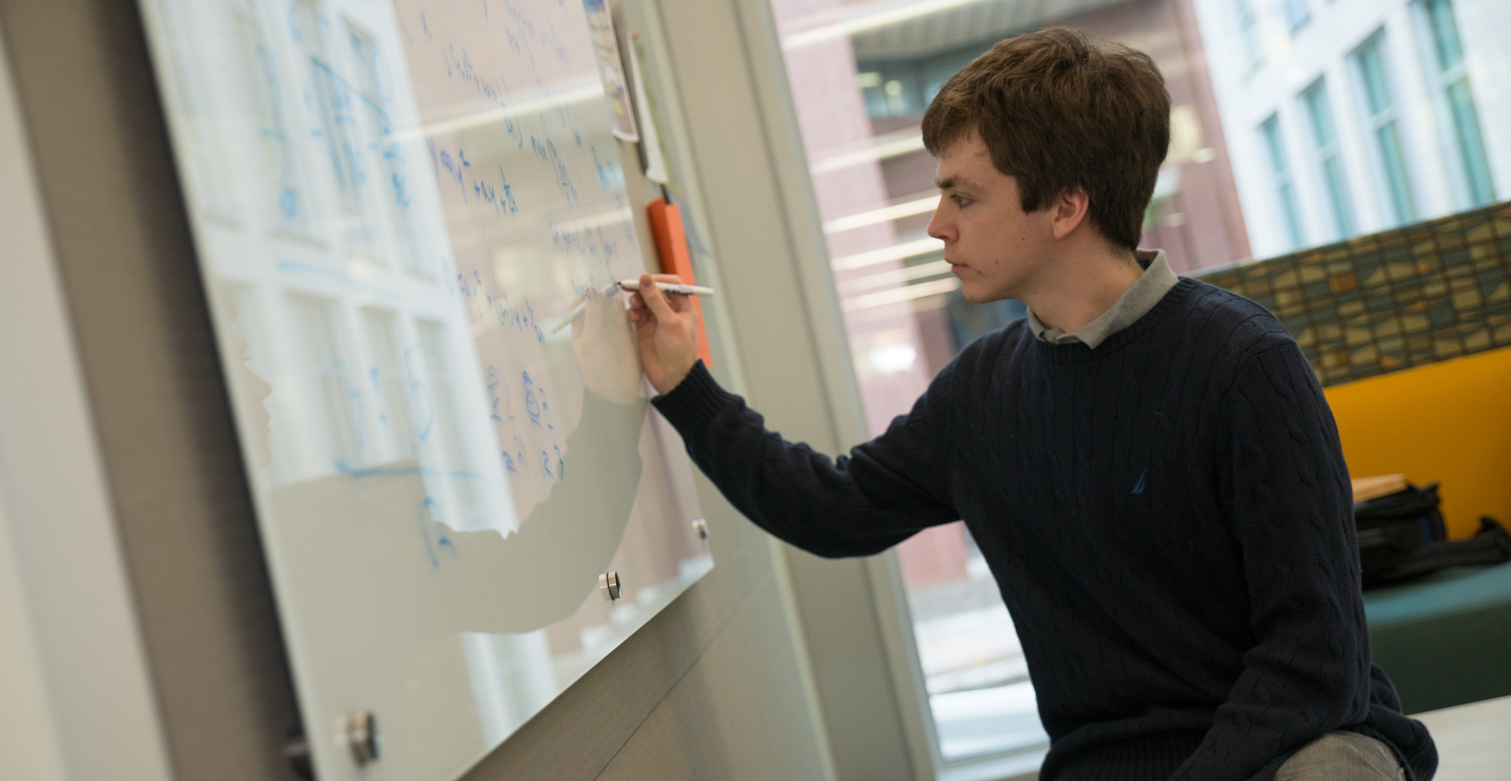 Rory Martin-Hagemeyer practices for the Putnam Competition in the Integrated Sciences Complex