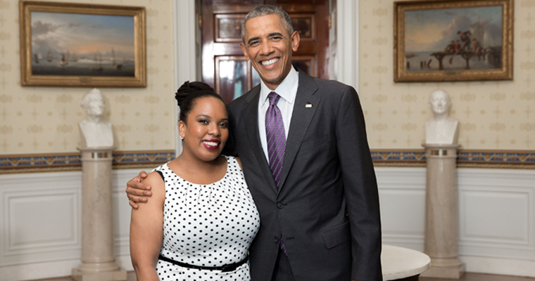 UMass Boston PhD Candidate Meets President Obama, Shares Research at White House Pride Event