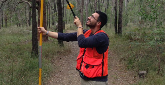 Eddie Saenz participated in LiDAR campaigns to California and Australia this summer.