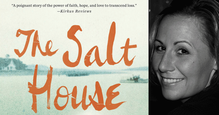 Left: The book cover of The Salt House. Right: a picture of Lisa Duffy