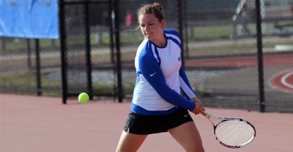 Women's tennis player Kelsey Shea leads the Beacons with 7 singles wins and 13 overall victories.