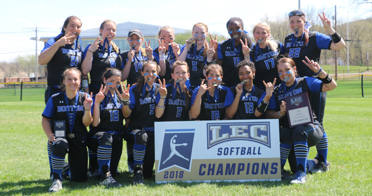 The 2017-2018 Beacons softball team won the 2018 Little East Conference Tournament