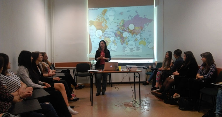 Ana Solano-Campos during one of her lectures at The John Paul II Catholic University of Lublin, Poland