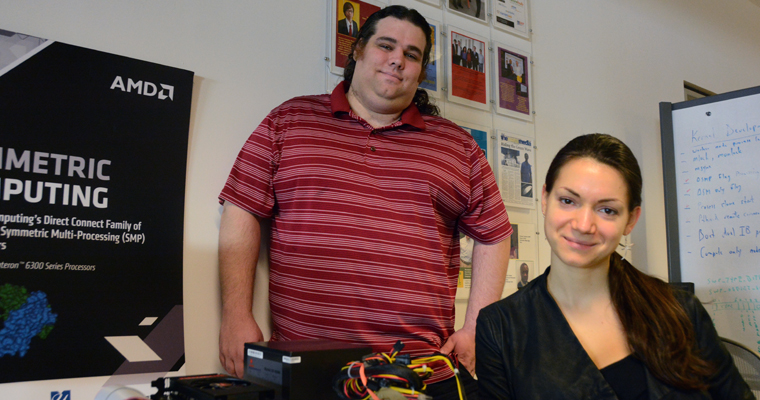 Evan Donato and Maryia Vasilenka and the rest of Team MGHPCC are using equipment from Symmetric Computing.