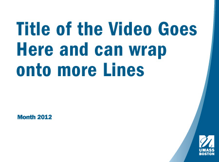Example of a slide for a video sequence, with room for text to be entered