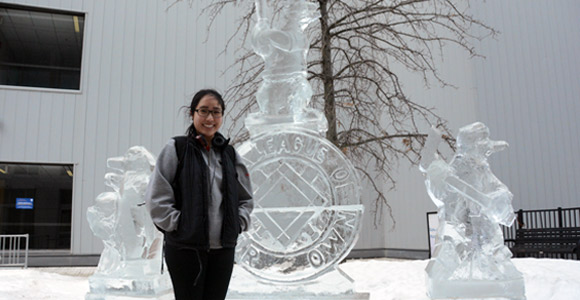UMass Boston Beacons, Penguins Inspire Longtime Ice Carver