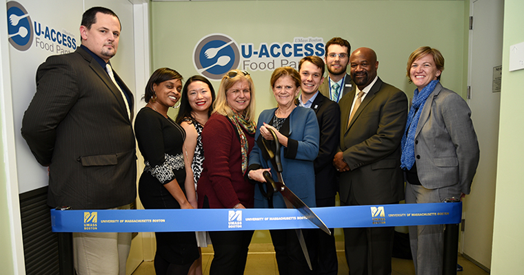 UMass Boston Cuts Ribbon on Expanded Food Pantry for Students in Need