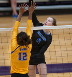 UMass Boston volleyball player Emilia Czapiewska