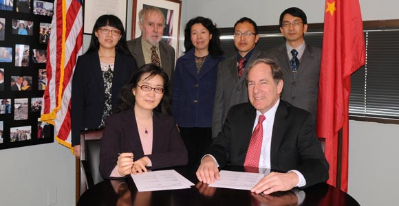 The McCormack Graduate School of Policy and Global Studies signed a MOU with the Yunnan Academy of Social Sciences in China