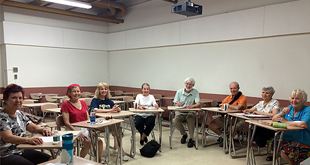 Members of the Informal Writing Group of the Osher Lifelong Learning Institute (OLLI) at UMass Boston