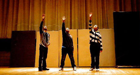 Student-actors who are part of UMass Boston's TAG Program