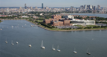 John W. McCormack Graduate School and the University of Massachusetts Boston - Aerial View