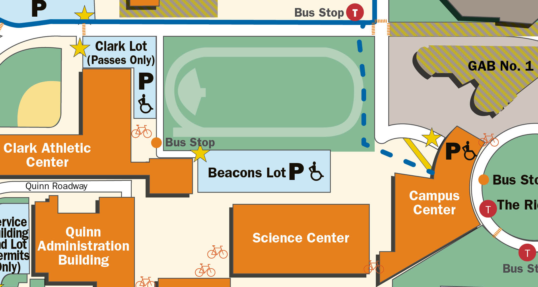 Beacons Lot map