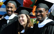 Members of the Class of 2012 at UMass Boston's commencement exercises