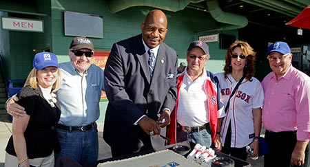 UMass Boston celebrates its 50th anniversary with faculty, staff, and students at a Boston Red Sox game at Fenway Park