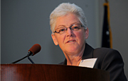 Gina McCarthy '76 is a pioneer in climate change, global warming and clean air who caught the attention of President Barack Obama. He appointed her to serve in his administration.
