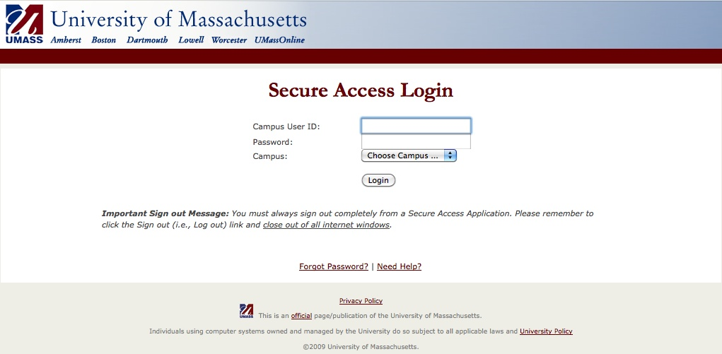 Image of WISER login screen