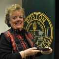 Carol DeSouza received a Boston State College Education for Service Award in 2012.