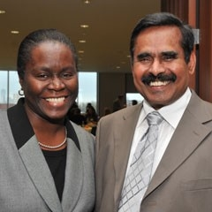 Liliana Mickle and Manickam Sugumaran at the 2012 Faculty/Staff Donor Appreciation Event.