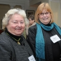Elaine Sullivan Barry and Carol Crowley Fitzgerald at the 2010 Boston Teachers College Luncheon.